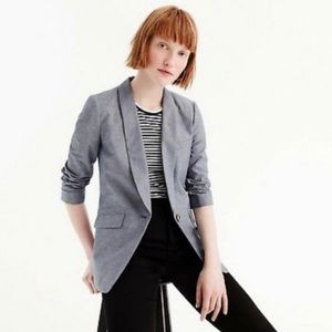J.Crew Unstructured Blazer Cotton Linen